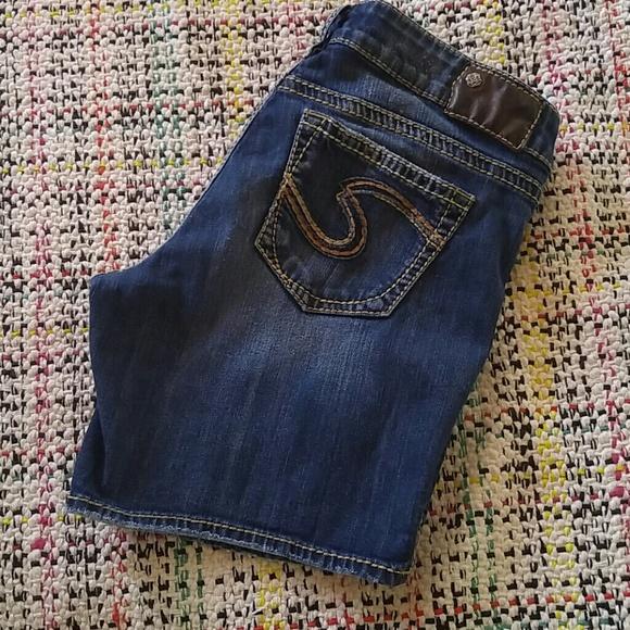 Silver Jeans Pants - Suki denim short by Silver